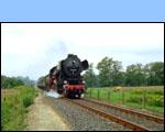 Stoomlocomotief van de Veluwsche Stoomtrein Mij (VSM) tussen Aalten en Winterswijk - ©Hans Hendriksen